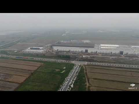 Tesla Gigafactory 3 Shanghai China Drone Video 05/19/2019 特斯拉中国上海超级工厂3无人机航拍视频
