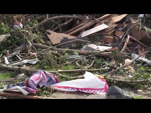 Drone video: Tornado damage in Dayton, Ohio