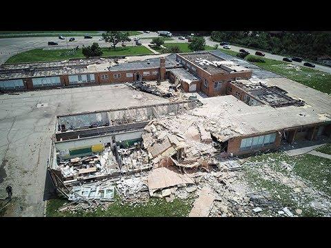 Drone video of Dayton tornado damage
