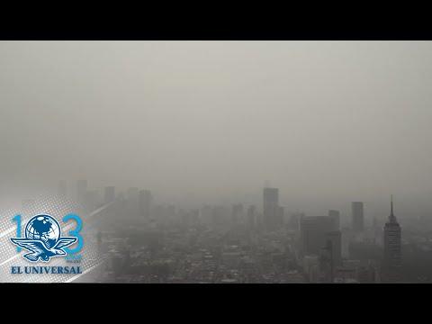"""Este es el video de drone que se hizo viral; la CDMX bajo """"nata"""" de contaminación"""