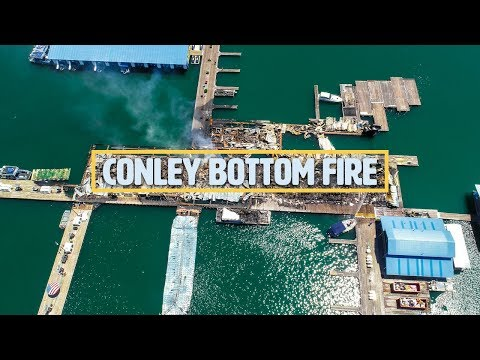 Conley Bottom Fire, Kentucky Drone Video
