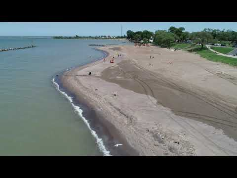 Drone video of the erosion on Lakeview Beach in Lorain