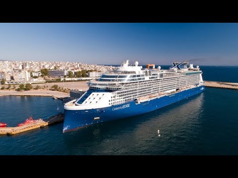 MS Celebrity Edge – Departure from Port of Piraeus (Greece)  AERIAL DRONE VIDEO