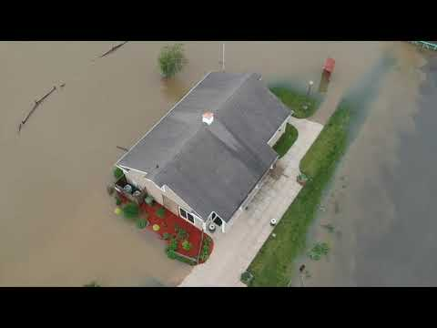 Drone video of flooding in Canal Fulton and Clinton