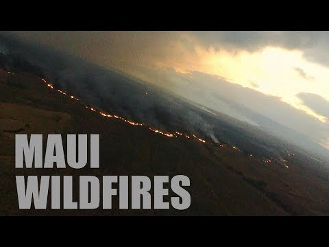 MAUI Hawaii July 2019 WILDFIRE Aerial Drone Video Surveillance – Parrot NIGHT FURY 4G Wing