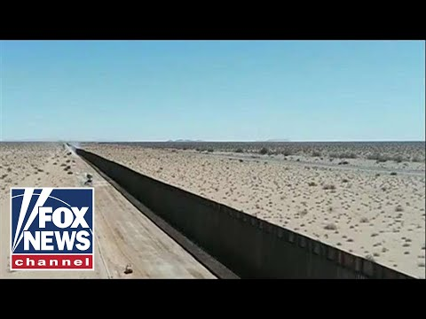 CBP releases drone footage showing 'new wall system' being built