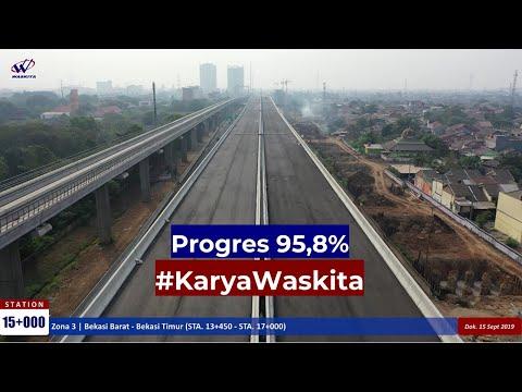 Video Drone #KaryaWaskita Proyek Jalan Tol Jakarta-Cikampek II Elevated – 15 September 2019