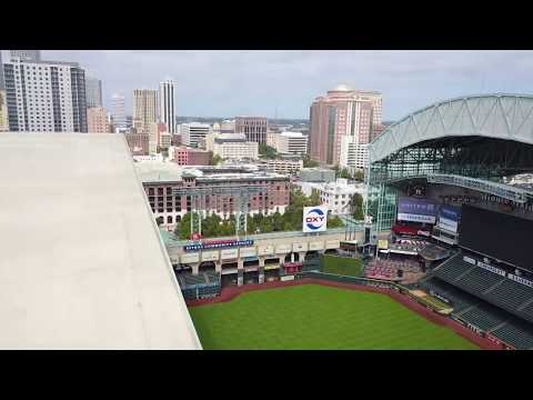 Drone video: Minute Maid Park in Houston, Texas