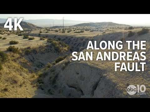 San Andreas Fault in California: Raw Drone Video [4K]