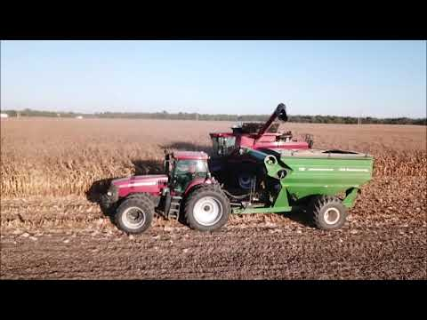 CREEK FARMS SHELLING CORN OCT 13TH, 2019 BOSTON, INDIANA DRONE VIDEO
