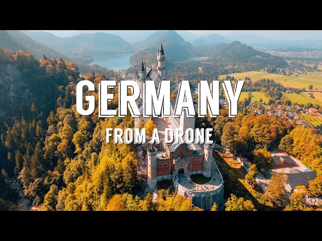 Stunning aerial drone footage over GERMANY + AUSTRIA – 4k