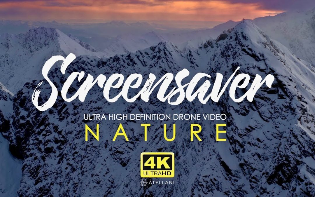 Nature and mountains | 4K Relaxing Screensaver | Aerial Drone Footage