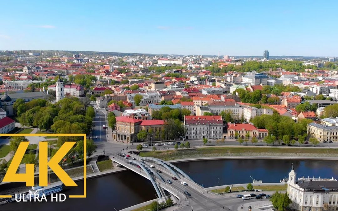4K Aerial View of Vilnius, Lithuania – 3 HRS Urban Life Drone Video