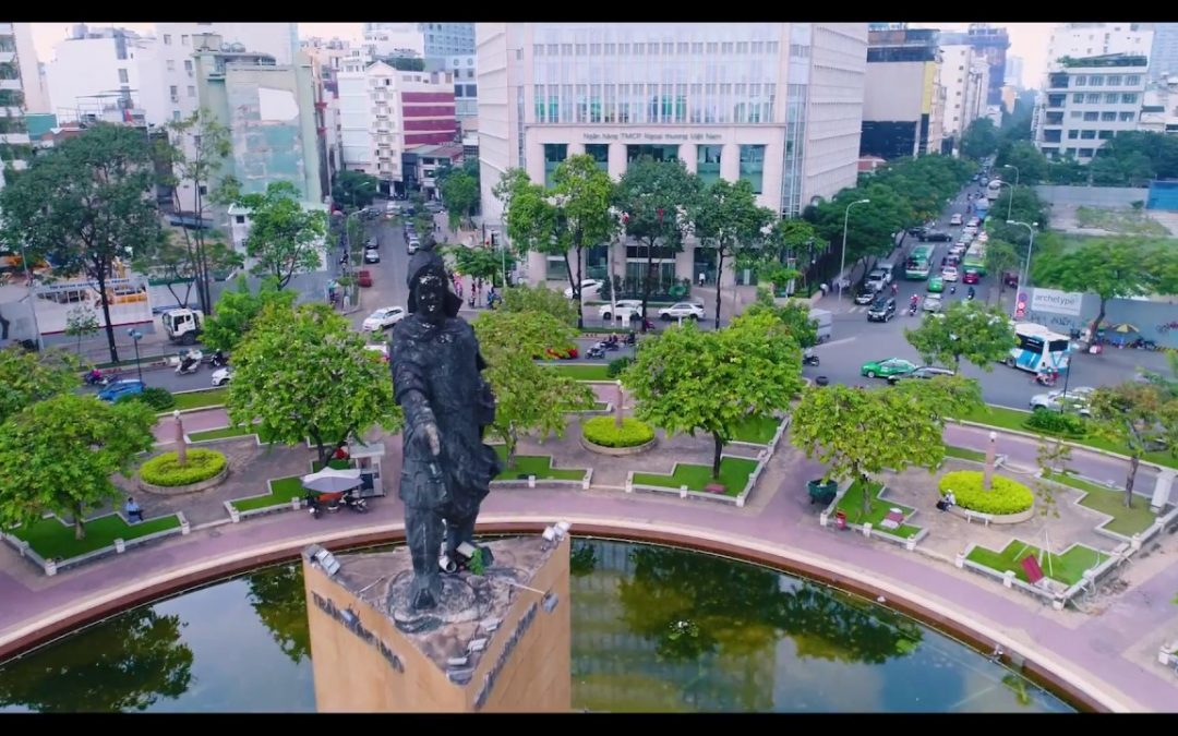 Fly Over Ho Chi Minh City – Saigon – Vietnam Best Aerial Drone Flycam Footage 1080p HD