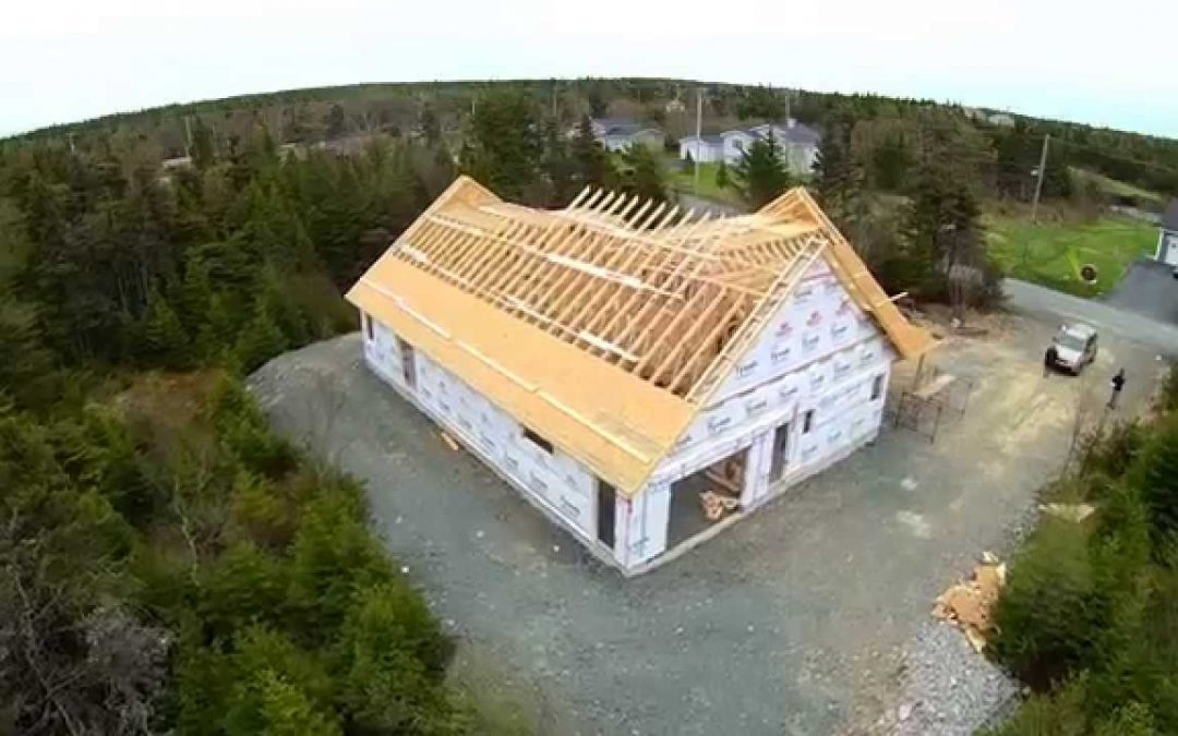 New Home Construction Aerial Drone Footage – Flatrock NL