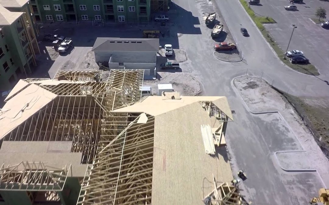 Aerial Drone Video of A Large Construction Site