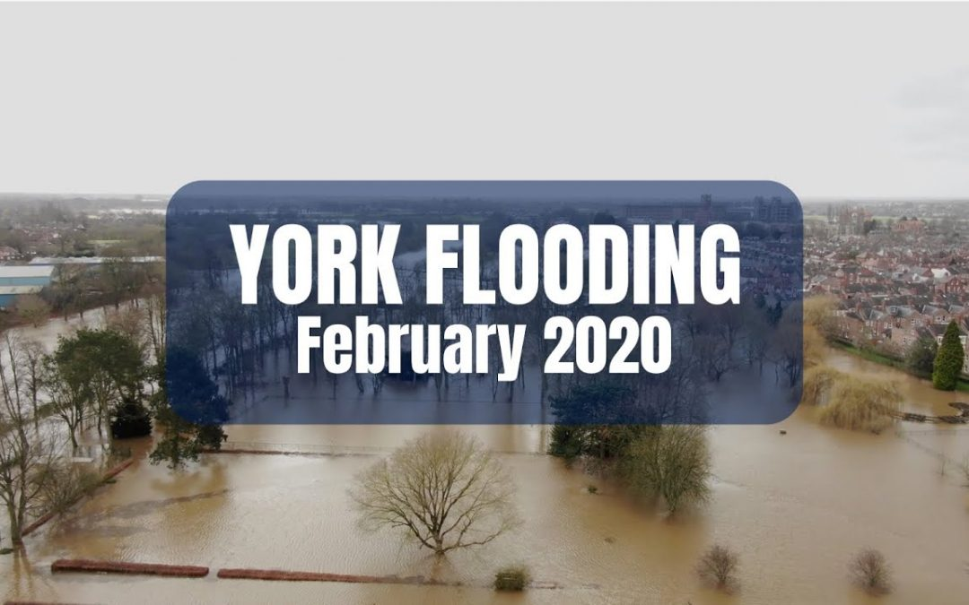 York Flooding 17th February 2020 Drone Aerial Video Film