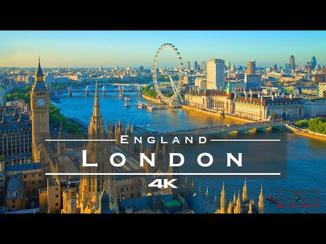 London, England 🇬🇧 – by drone [4K]