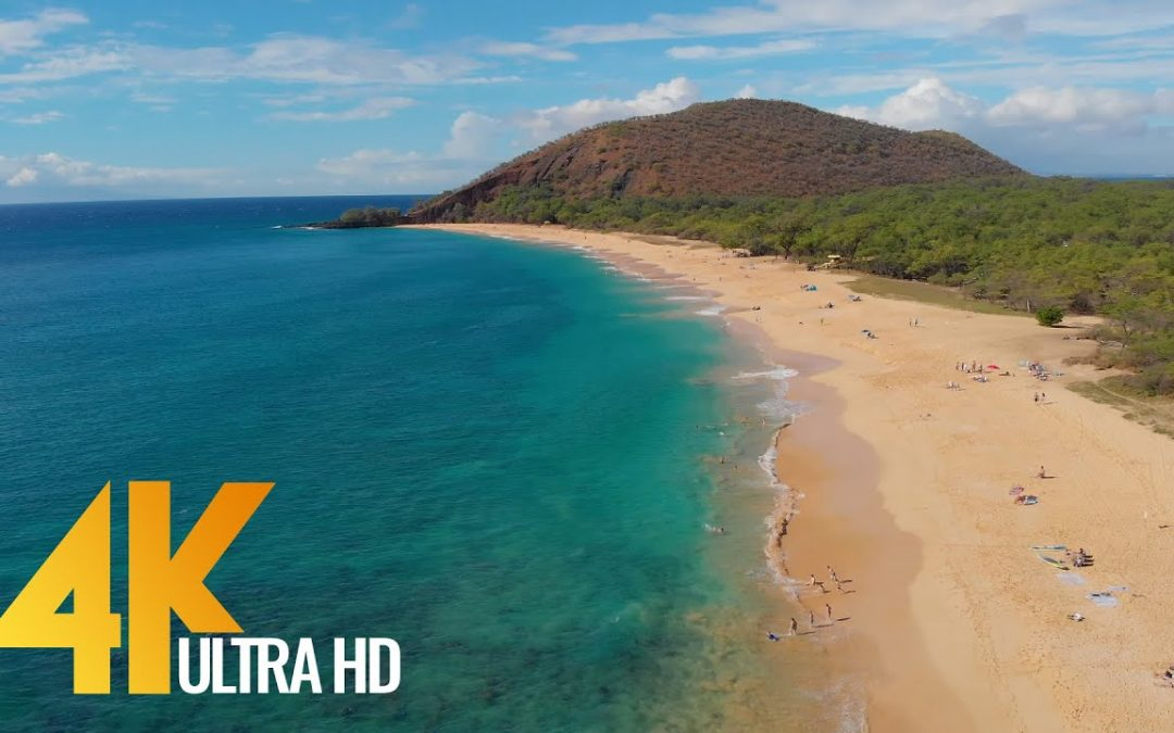 4K Drone Footage – Bird's Eye View of Maui Island, Hawaii – 3 Hour Ambient Drone Film