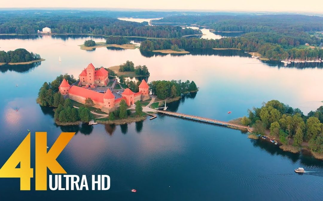 4K Drone Footage – Lithuanian Nature from Above – Ambient Drone Video