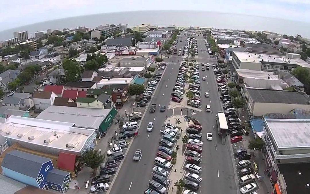 Rehoboth Beach aerial drone video
