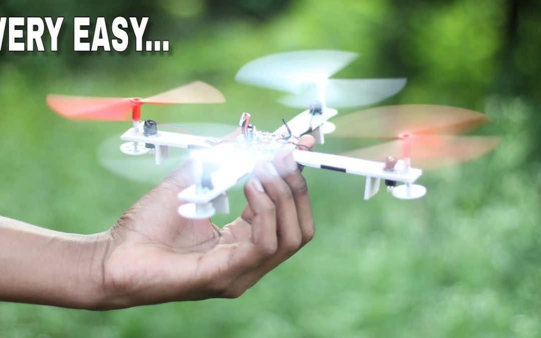 How To Make A Drone At Home [flying quadcopter]