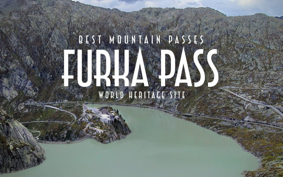 The Furka Pass in Switzerland. Aerial Footage | 4K Drone Video