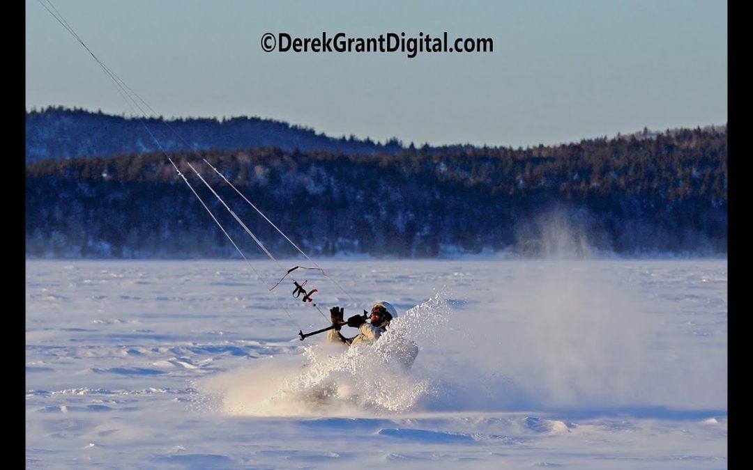 Kennebecasis Snowkiting – Aerial Drone Video