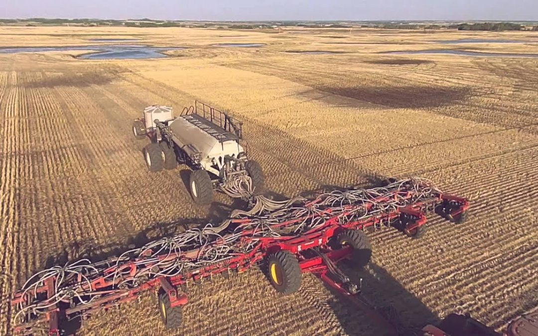 Aerial Drone Video of Seeding, Spreading and Spraying Canola 2015