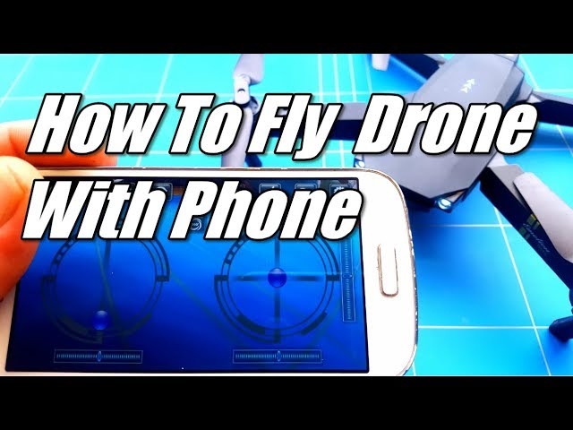 Eachine E58 Tutorial How To Fly a Drone With Your Phone Using Wifi FPV Connect To The UFO App