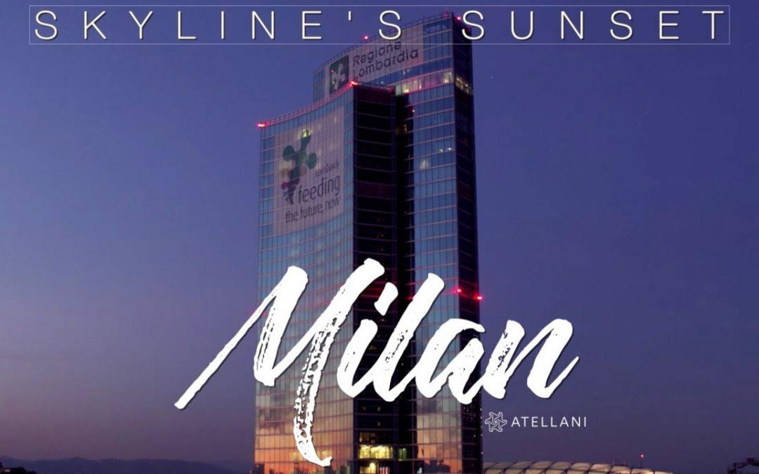 Milan Skyline's Sunset – 4K UHD Aerial Drone Video of Milano, Italy