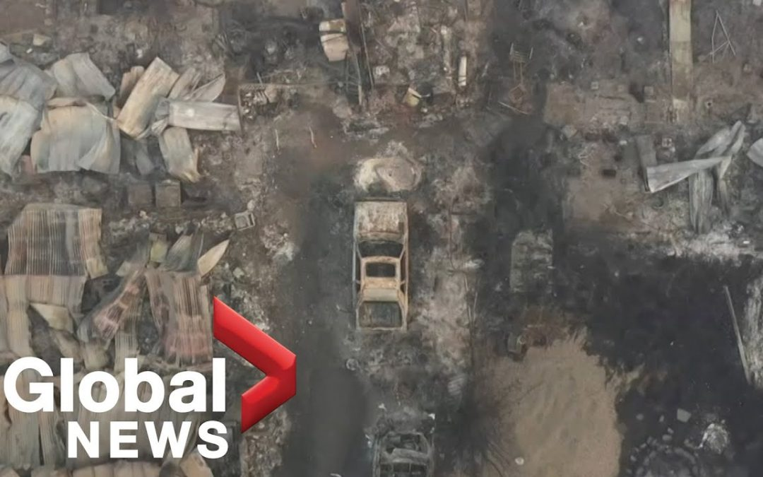 Oregon wildfires: Drone footage shows devastation in communities destroyed by fires
