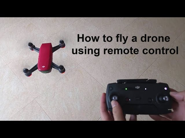 How to fly a drone using remote control