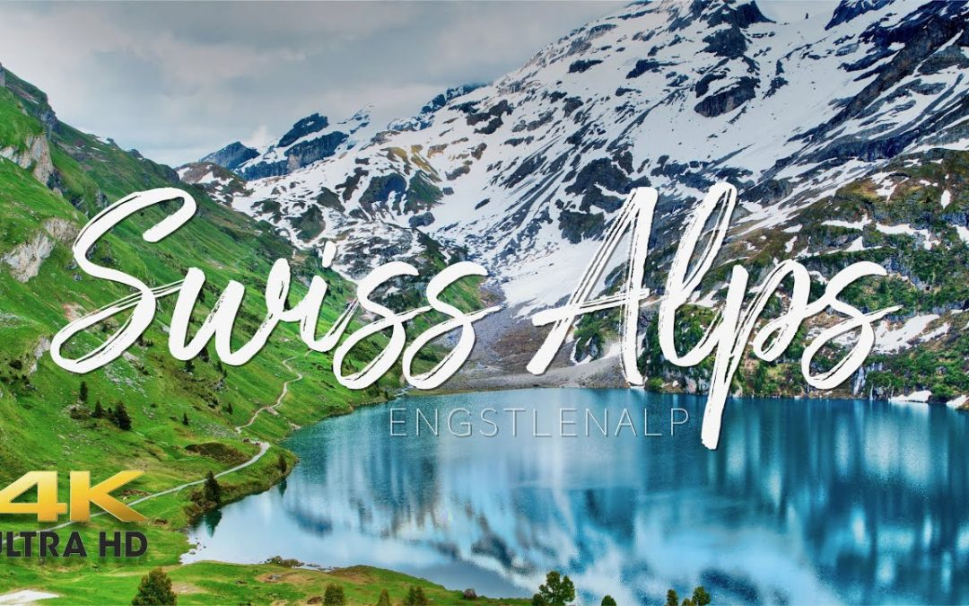 Beautiful isolation. Swiss Alps 4K – Aerial drone 4K Video. Filmed in Engstlenalp