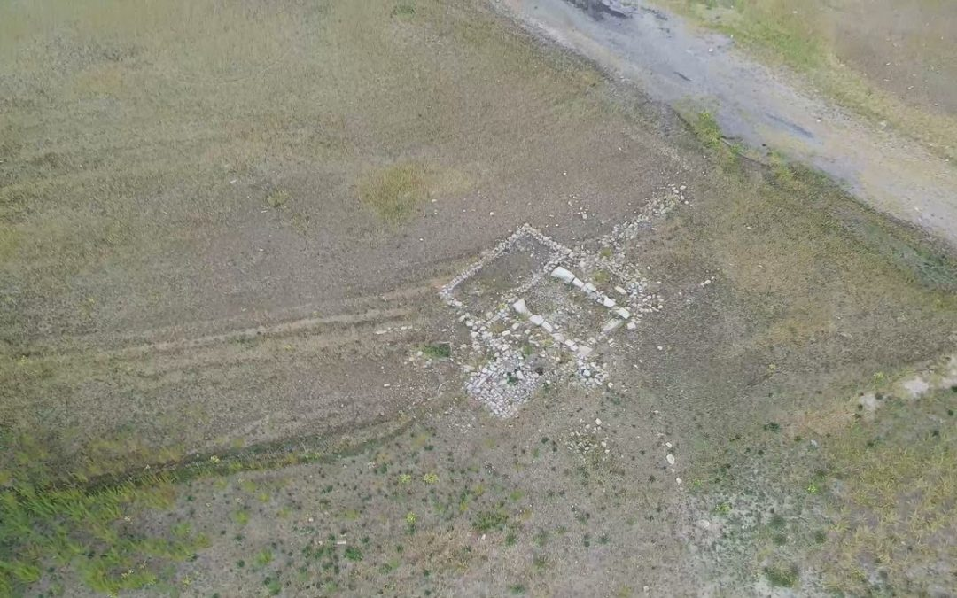 Aerial drone video of Rockport ghost town